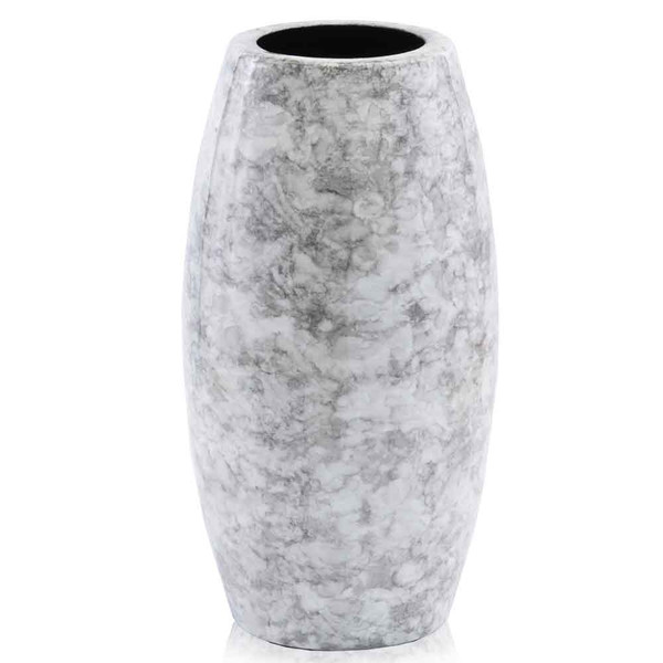 """6.5"""" X 6.5"""" X 12.5"""" White/Faux Marble - Vase 354688 By Homeroots"""