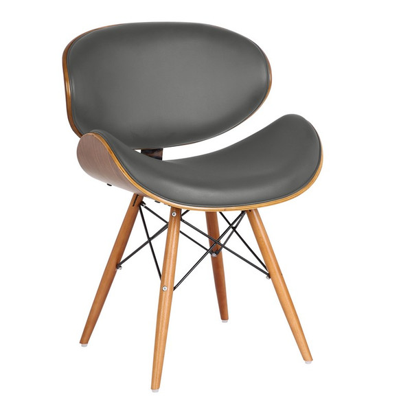 """Armen Living Cassie Mid-Century Dining Chair LCCASIWAGRAY """"Special"""""""