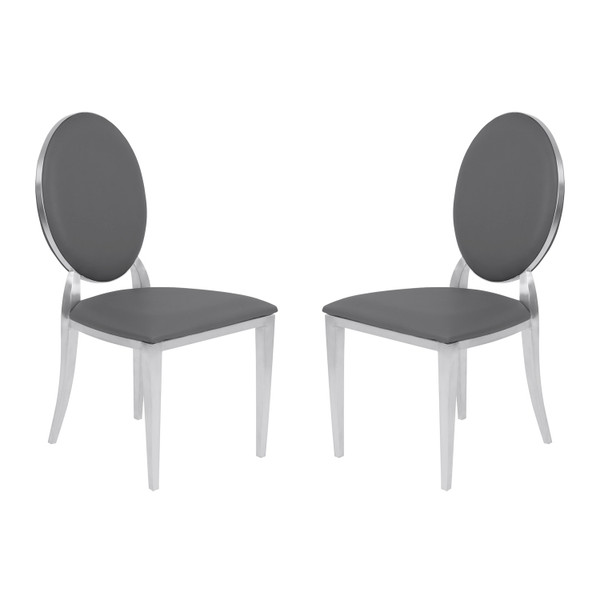 "Armen Living Cielo Contemporary Dining Chair - Set Of 2 LCCISIGRBS ""Special"""