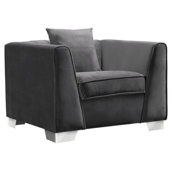 """Armen Living Cambridge Contemporary Sofa Chair LCCM1GR """"Special"""""""