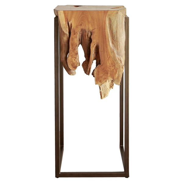 Jansen Reclaimed Teak Root High Side/ End Table, Natural 9600028
