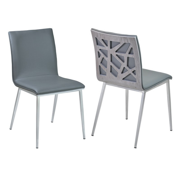"""Armen Living Crystal Dining Chair - Set Of 2 LCCRSIGRBS """"Special"""""""