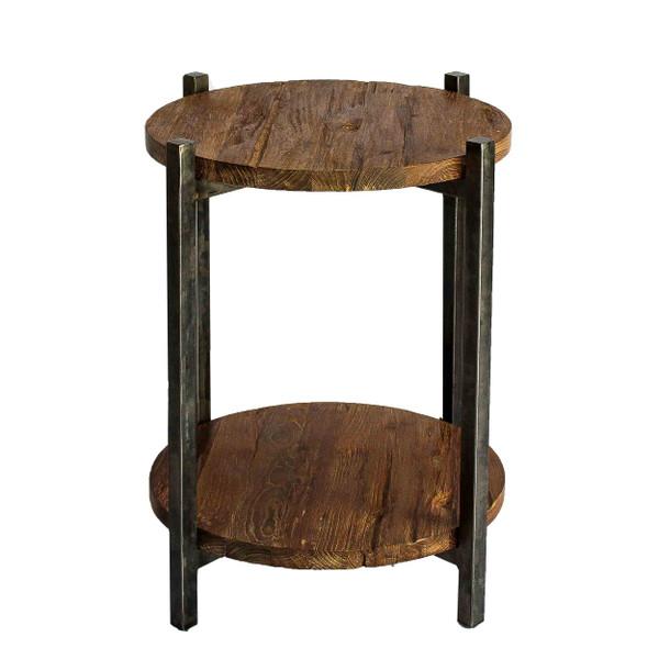 Lotta Side/ End Table Gunmetal Frame, Natural 9600018