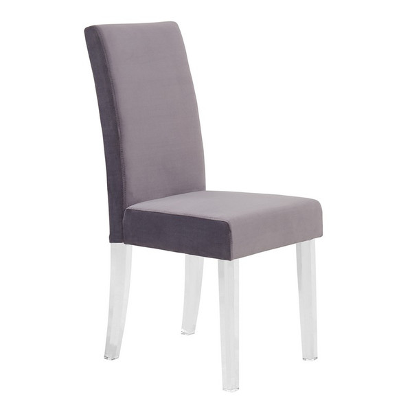 """Armen Living Dalia Modern And Contemporary Dining Chair - Set Of 2 LCDACHGRAY """"Special"""""""