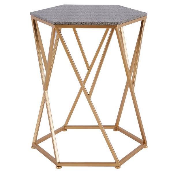 Cressa Faux Shagreen End Table 1600045