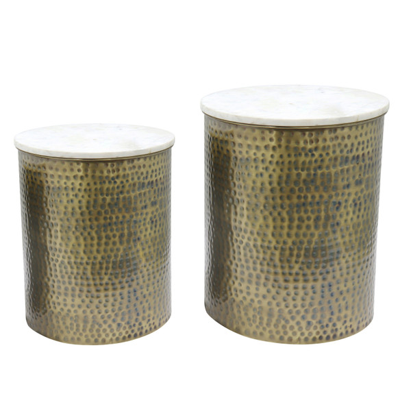 Kent Marble Side Table Set Of 2 1260005