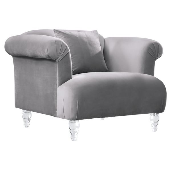 "Armen Living Elegance Contemporary Sofa Chair LCEG1GR ""Special"""