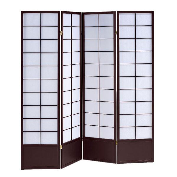 Shoji 4 Panel Wood Screen SG-5429-4 By Screen Gems