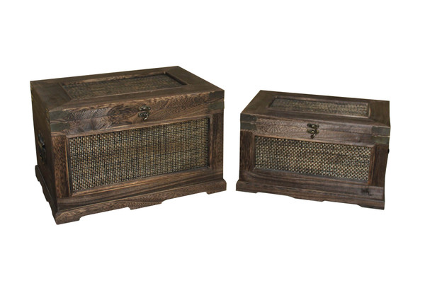 Set Of 2 Wooden Storage Box (Pack Of 2) SGT43 By Screen Gems