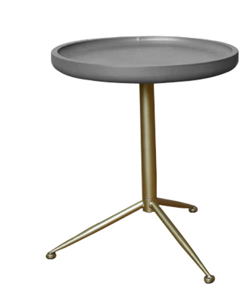 Wooden Side/End Table With Round Top AF-126 By Screen Gems
