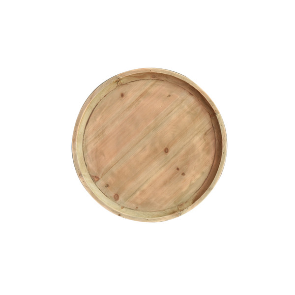Wooden Side/End Table With Round Top AF-129 By Screen Gems