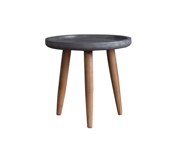 Wooden Side/End Table With Round Top AF-131 By Screen Gems