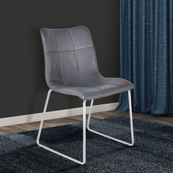 """Armen Living Hamilton Contemporary Dining Chair - Set Of 2 LCHMSIVGBS """"Special"""""""
