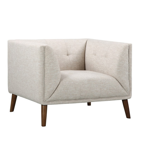 """Armen Living Hudson Mid-Century Button-Tufted Chair LCHU1BE """"Special"""""""
