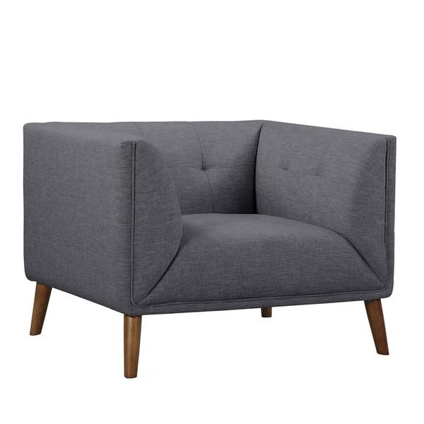 "Armen Living Hudson Mid-Century Button-Tufted Chair LCHU1DG ""Special"""