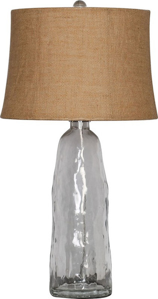 Clear Glass Table Lamp LMP-1011