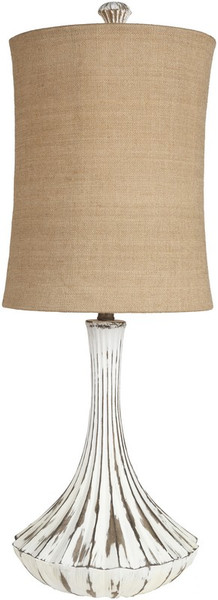 Distressed White Table Lamp LMP-1028