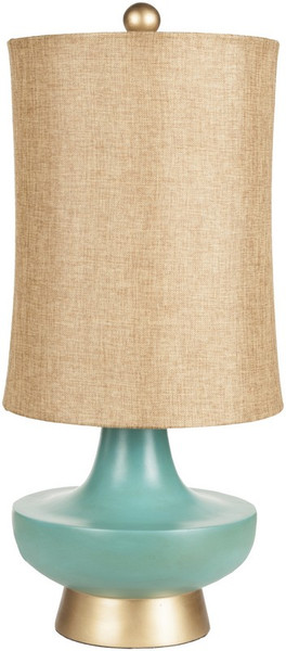 Aged Turquoise Table Lamp LMP-1039