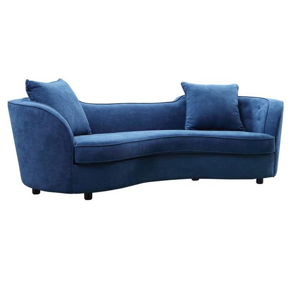 """Armen Living Palisade Contemporary Sofa LCPA3BLUE """"Special"""""""