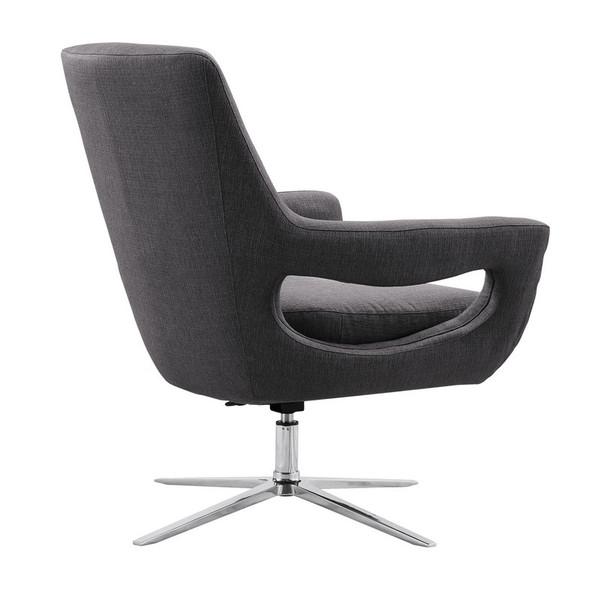 "Armen Living Quinn Contemporary Adjustable Swivel Accent Chair LCQUCHGR ""Special"""