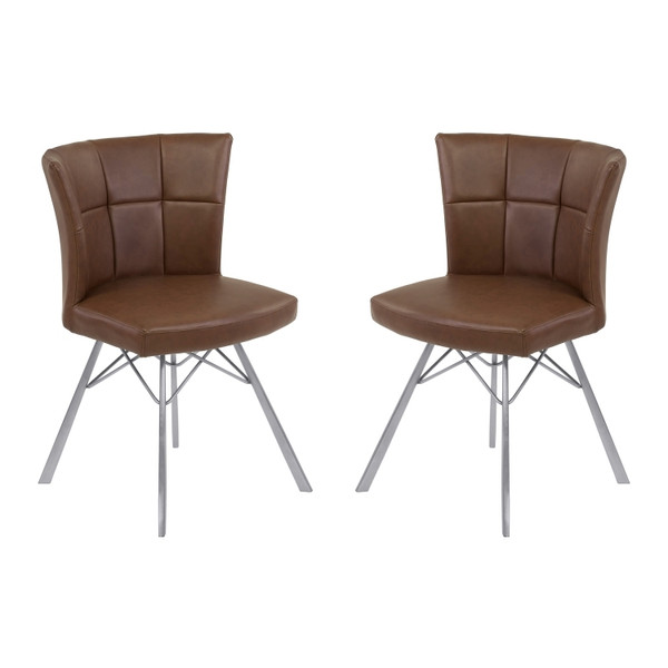 "Armen Living Spago Contemporary Dining Chair - Set Of 2 LCSPSIVCBS ""Special"""