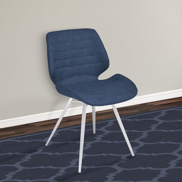 "Armen Living Valor Contemporary Dining Chair - Set Of 2 LCVRSIVBUBS ""Special"""