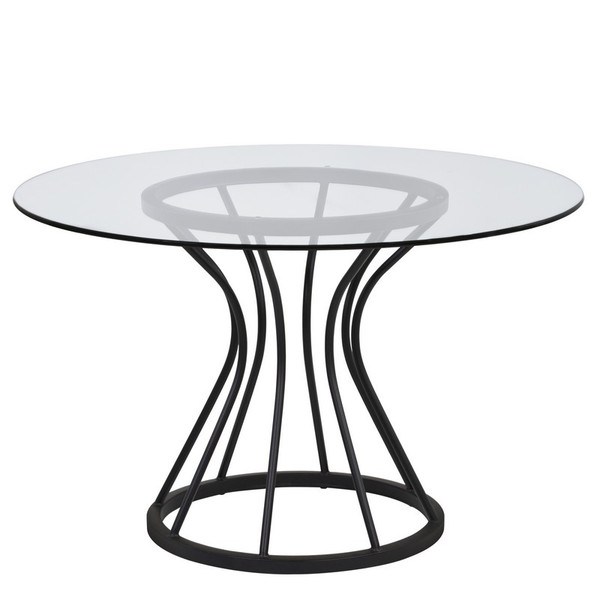 """Armen Living Zurich Round Dining Table LCZUDITOCLGL """"Special"""""""