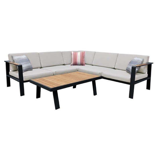 "Armen Living Nofi Outdoor Patio Sectional Set SETODNOSEBE ""Special"""