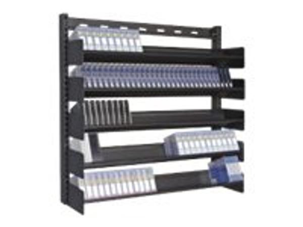 Turtle 5 Shelf Wallmount Multi-Media Steel Rack TUCP048-00180 By Arlington