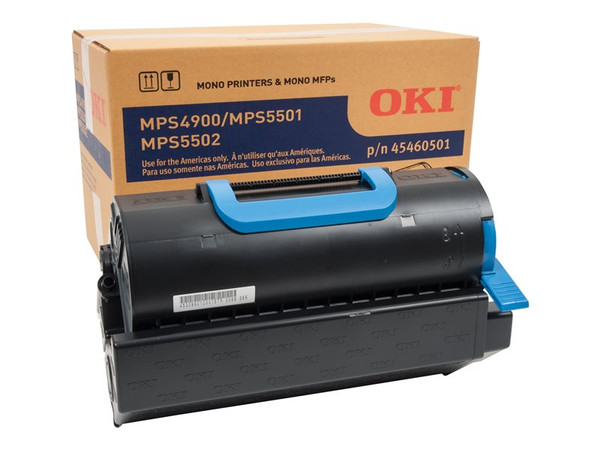 Okidata Mps5501B Sd Yield Black Toner OKI45460501 By Arlington