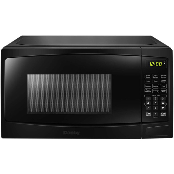 Danby 0.7 Cuft Countertop Microwave, 700 Watts, 10 Power Levels - Black DBMW0720BBB