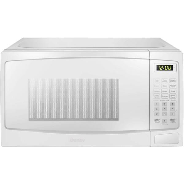 Danby 0.7 Cuft Countertop Microwave, 700 Watts, 10 Power Levels - White DBMW0720BWW