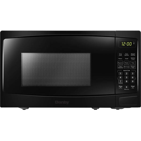 Danby 0.9 Cuft Countertop Microwave, 900 Watts, 10 Power Levels - Black DBMW0920BBB