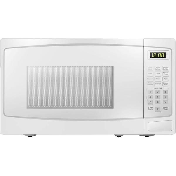 Danby 0.9 Cuft Countertop Microwave, 900 Watts, 10 Power Levels - White DBMW0920BWW