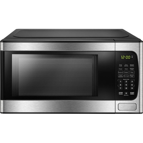 Danby 0.9 Cuft Countertop Microwave, 900 Watts, 10 Power Levels - Stainless DBMW0924BBS
