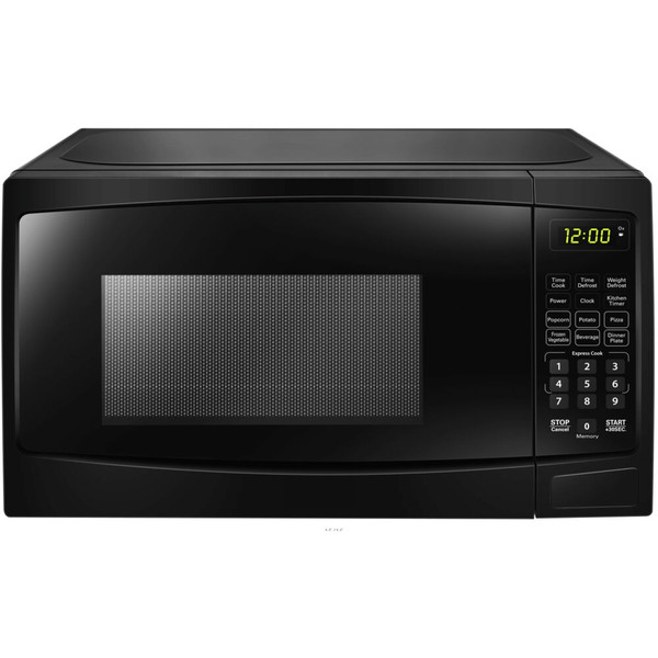 Danby 1.1 Cuft Countertop Microwave, 1000 Watts, 10 Power Levels - Black DBMW1120BBB