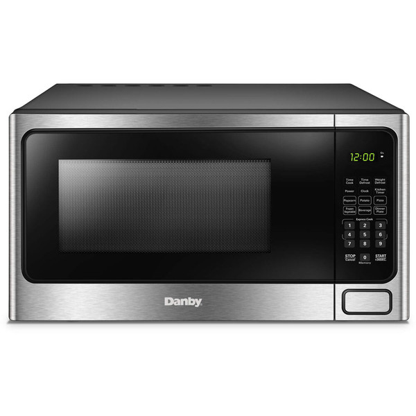 Danby 1.1 Cuft Countertop Microwave, 1000 Watts, 10 Power Levels - Stainless DDMW1125BBS