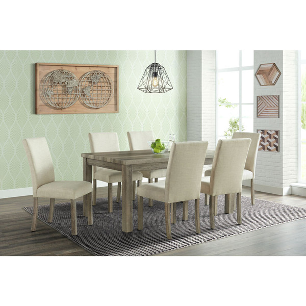 Cambridge Wyeth Dining 7 Piece Dining Set - Table, 6 Fabric Side Chairs 982003-7PC-RUS