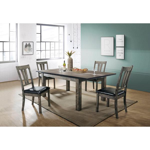 Cambridge Drexel Dining 5 Piece Set - 78X42X30H Table, 4 P/U Side Chairs 99001-PU5PC1-WG