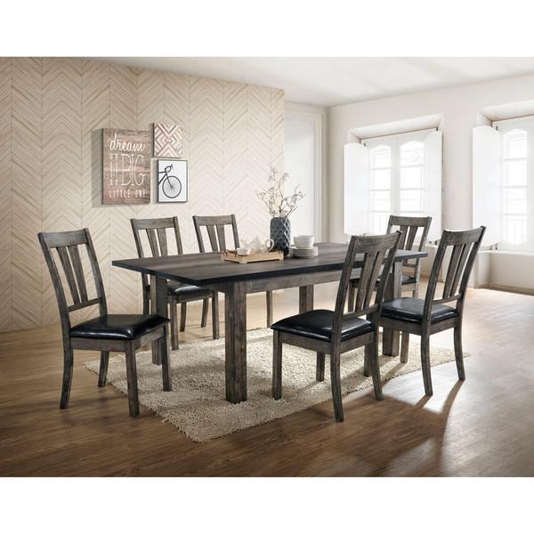 Cambridge Drexel Dining 7 Piece Set - 78X42X30H Table, 6 P/U Side Chairs 99001-PU7PC1-WG