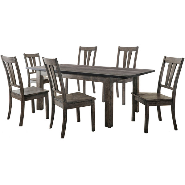Cambridge Drexel Dining 7 Piece Set - 78X42X30H Table, 6 Wood Side Chairs 99001-WD7PC1-WG