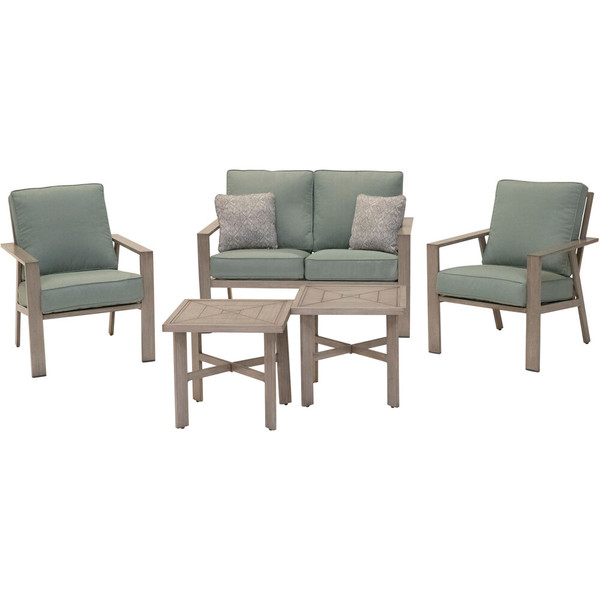 Mod Furniture Canyon 5 Piece Set: 2 Side Chairs, Loveseat, And 2 Coffee Tables CANYON5PC-SPR