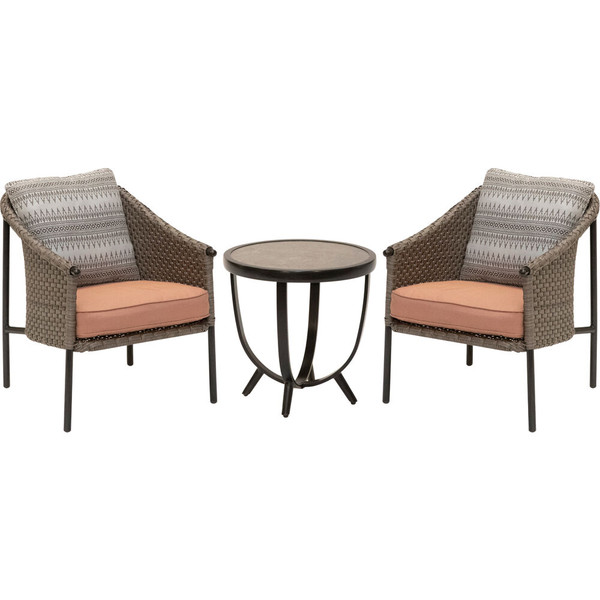 Mod Furniture Santa Fe 3 Piece Set: 2 Bucket Chairs With Side Table SANTAFE3PC-PRL