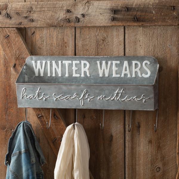 CTW Home Winter Wears Shelf Organizer With Six Hooks 440121
