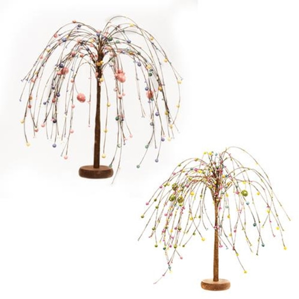 """Easter Berry Willow Tree 18""""H (Set Of 2) F2333500 By CWI Gifts"""