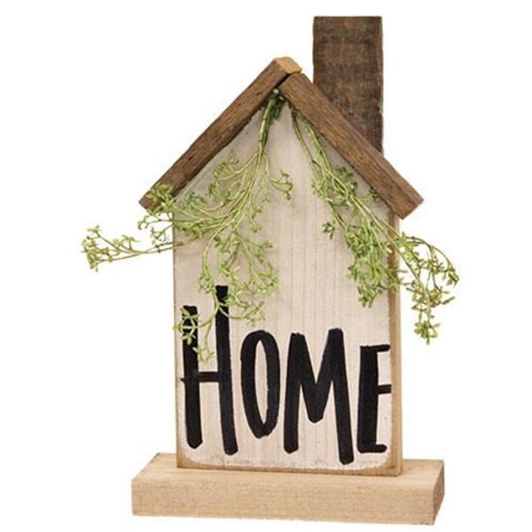 """""""Home"""" Wooden Farmhouse on Base G21210 By CWI Gifts"""