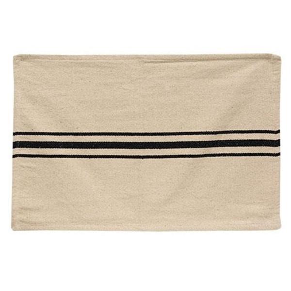 Cream & Black Grain Sack Towel Ga18T By CWI Gifts