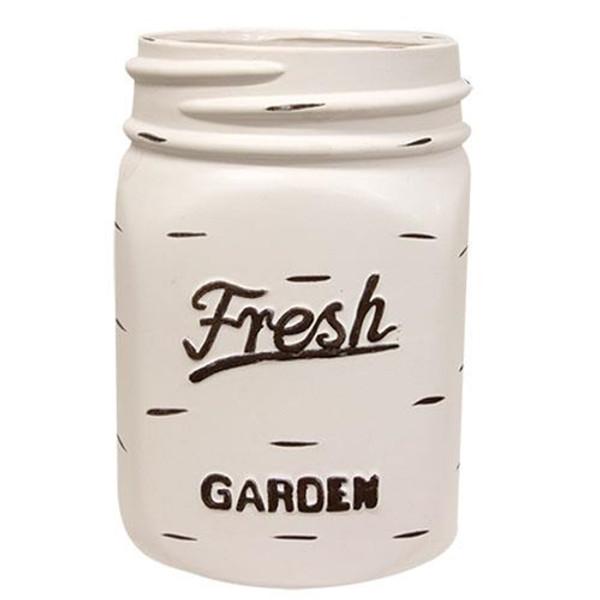 White Mason Jar Planter Gchd234 By CWI Gifts