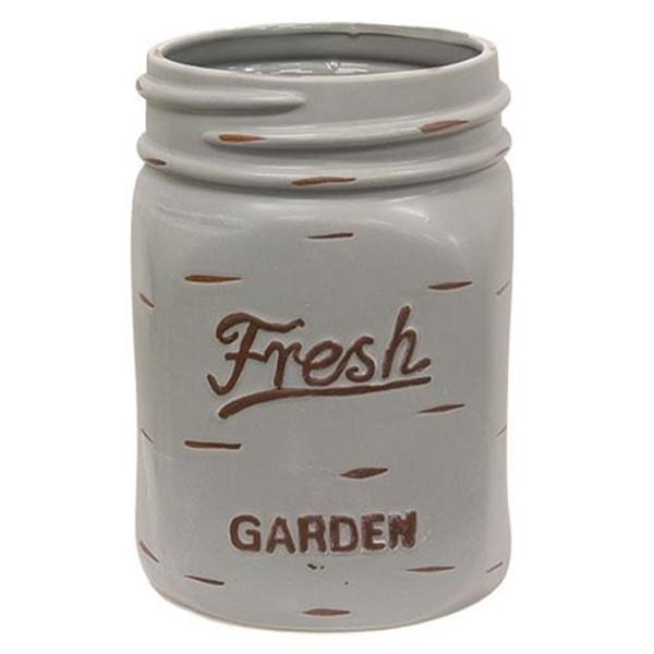 Steel Gray Mason Jar Planter Gchd938 By CWI Gifts