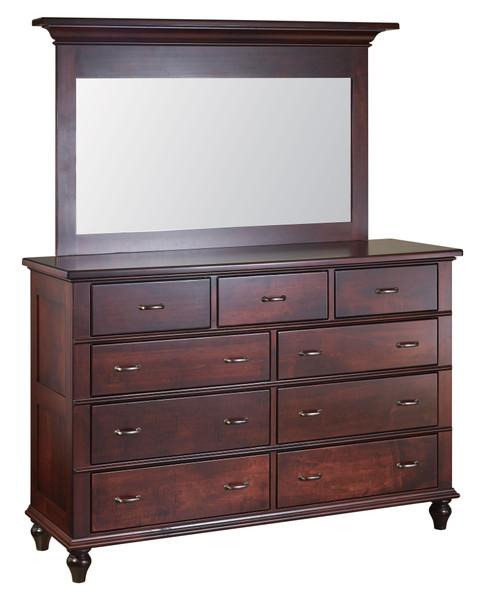 Legacy Dresser Red Oak & Brown Maple LD6241 By J.Miller Woodworking